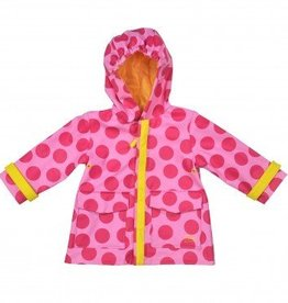 i play Midweight Raincoat Pink Dot S/M