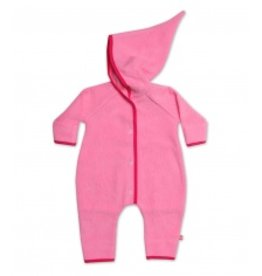 Zutano Zutano Elf Romper Fleece Hot Pink 12 mo