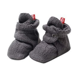 Zutano Zutano Fleece Booties Gray 12 mo