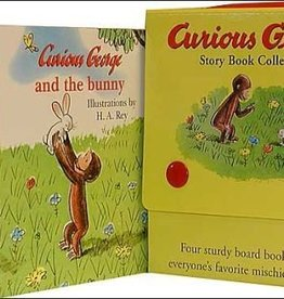 Houghton Mifflin Harcourt Curious George by H.A. Rey Four Story Book Collection Board Book
