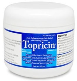 Topricin Pain Relief and Healing Cream Jar 4 oz