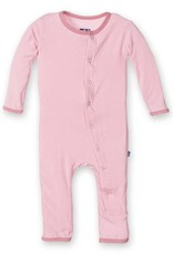 Kickee Pants Applique Coverall Lotus Porcupine Snaps