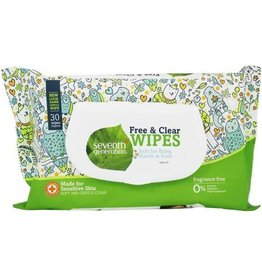 Seventh Generation Free & Clear Wipes 30 ct