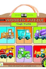 Wooden Puzzles tough trucks  Innovative Kids