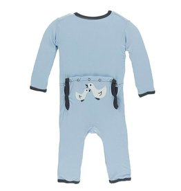 Kickee Pants Applique Coverall Pond Ducks 0-3 m