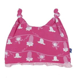 Kickee Pants Kickee Pants Double Knot Ruffle Hat (Prints)  Mary, Mary Quite Contrary NB-3M