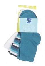 Kickee Pants Kickee Pants Sock Set Natural, Boy Forest Stripe & Bay 0-6M