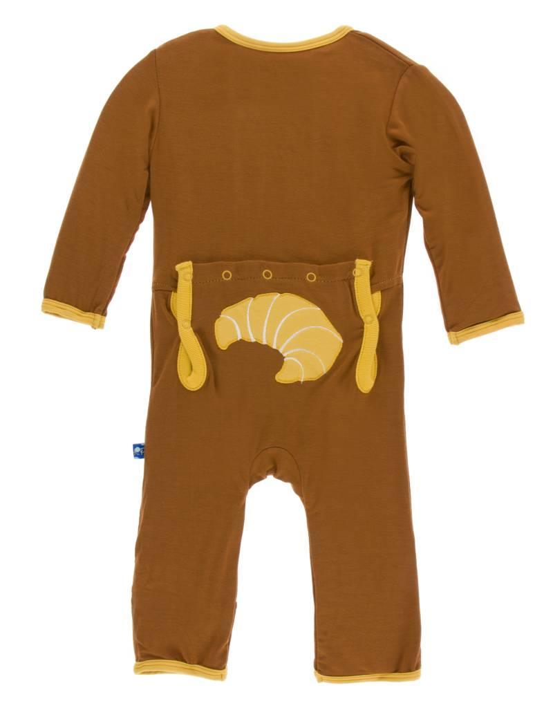 Kickee Pants Kickee Pants Applique Coverall w/zipper 0-3M