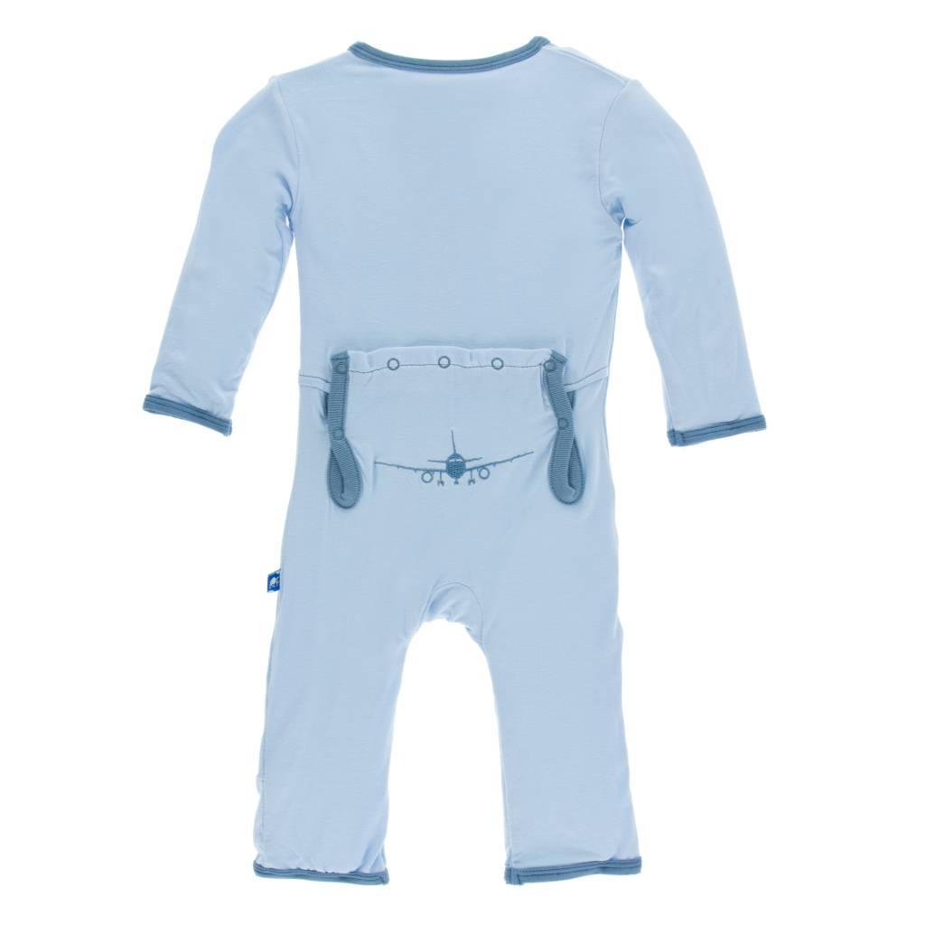 Kickee Pants Applique Coverall w/zipper 0-3M