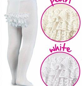 Jeffries Jeffries Ruffle Tights White