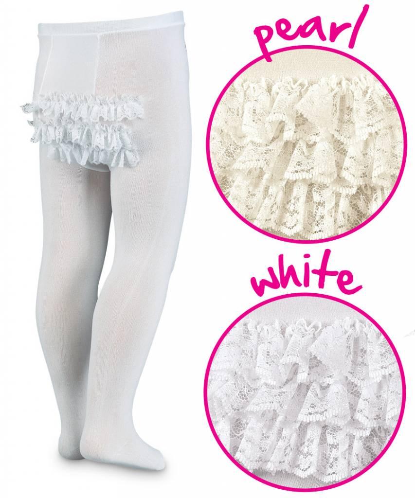 Jefferies Ruffle Tights White