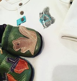 Starry Knight Design Applique Shoes Squirrel and Nuts