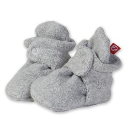 Zutano Cozie Fleece Booties Heather Gray