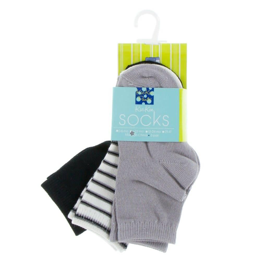 Kickee Pants Socks Midnight/Parisian Stripe/Feather