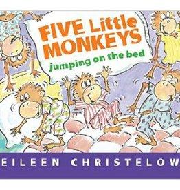 Houghton Mifflin Harcourt Five Little Monkeys Jumping on the Bed by Eileen Christelow Board Book