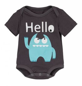 Doodle Pants Blue Monster Bodysuit