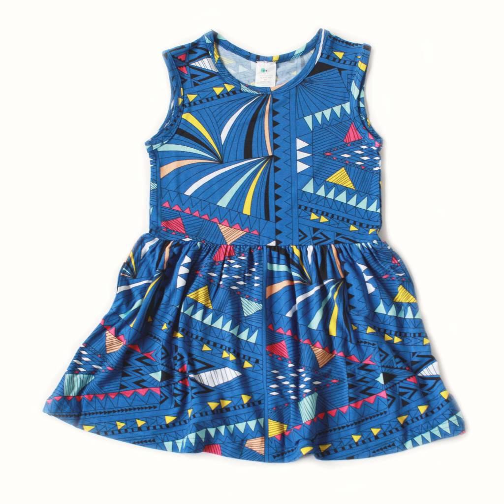 Nohi Tribal Blue Tank Dress