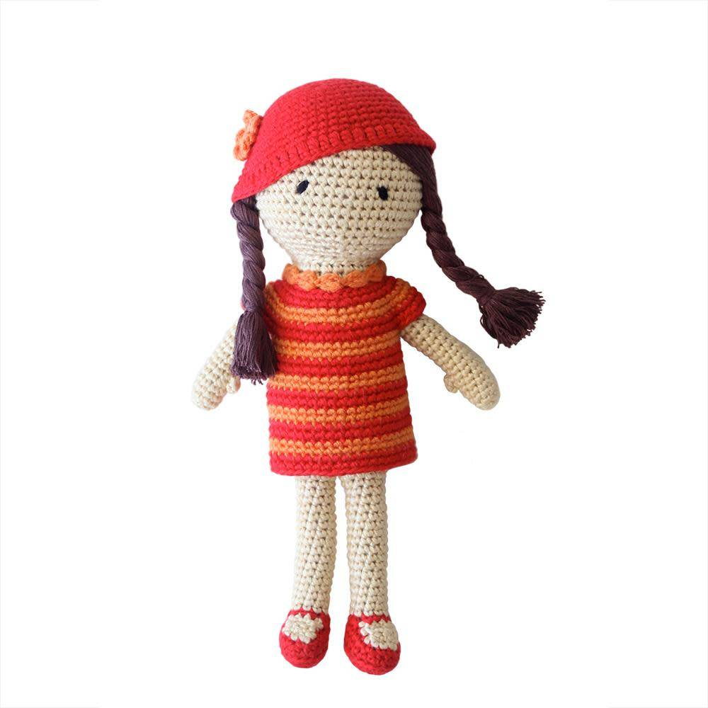 cheengoo Amelia the Hand Crocheted Doll