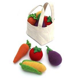 cheengoo Hand Crocheted Veggies Rattle