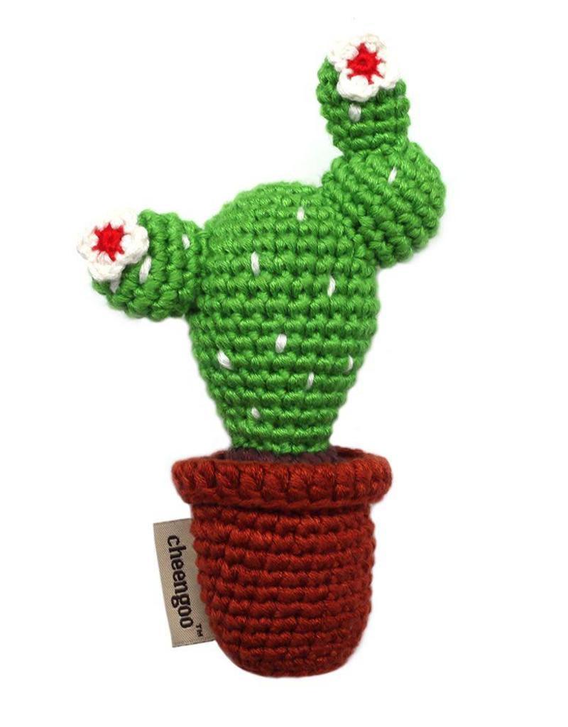 Cheengoo Cactus Hand Crocheted Rattle