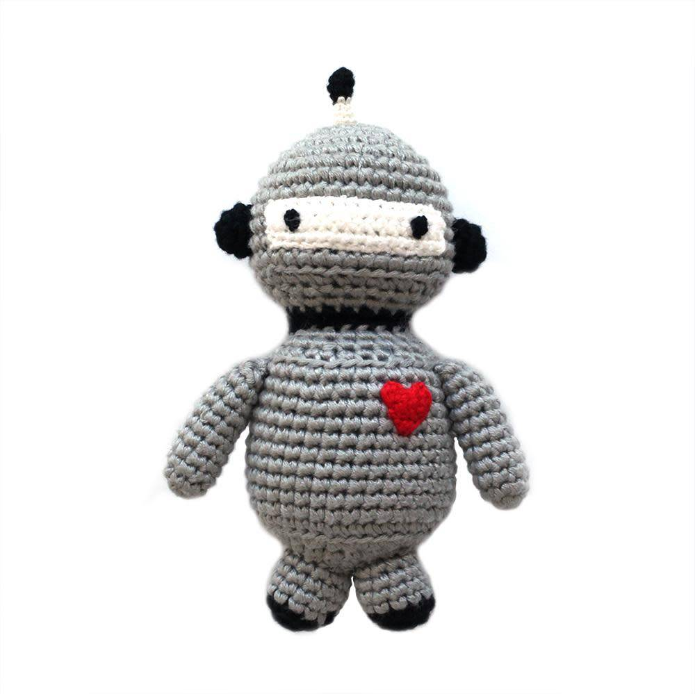 cheengoo Robot Hand Crocheted Rattle