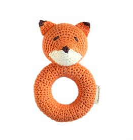 cheengoo Fox Ring Hand Crocheted Rattle