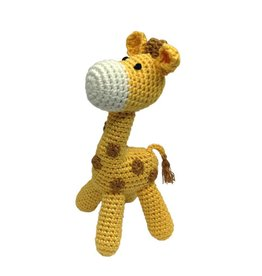 cheengoo Standing Giraffe Hand Crocheted Rattle