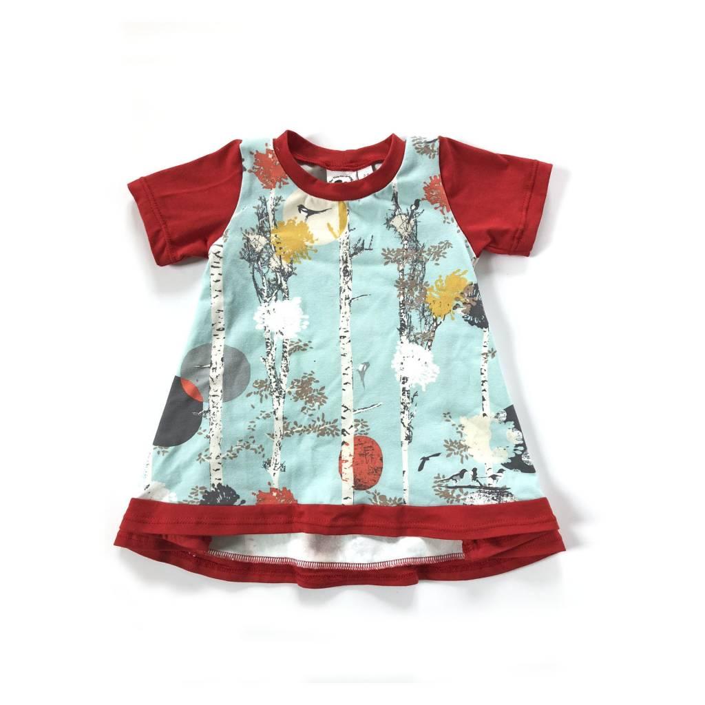 Tiny Hedgehog Autumn Walk Tunic Dress