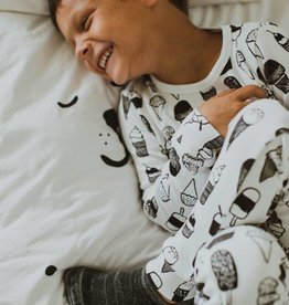 Modern  Burlap Organic Cotton Pajama - Coffee Love