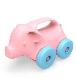 Green Toys Animal on Wheels Pig Roller Car