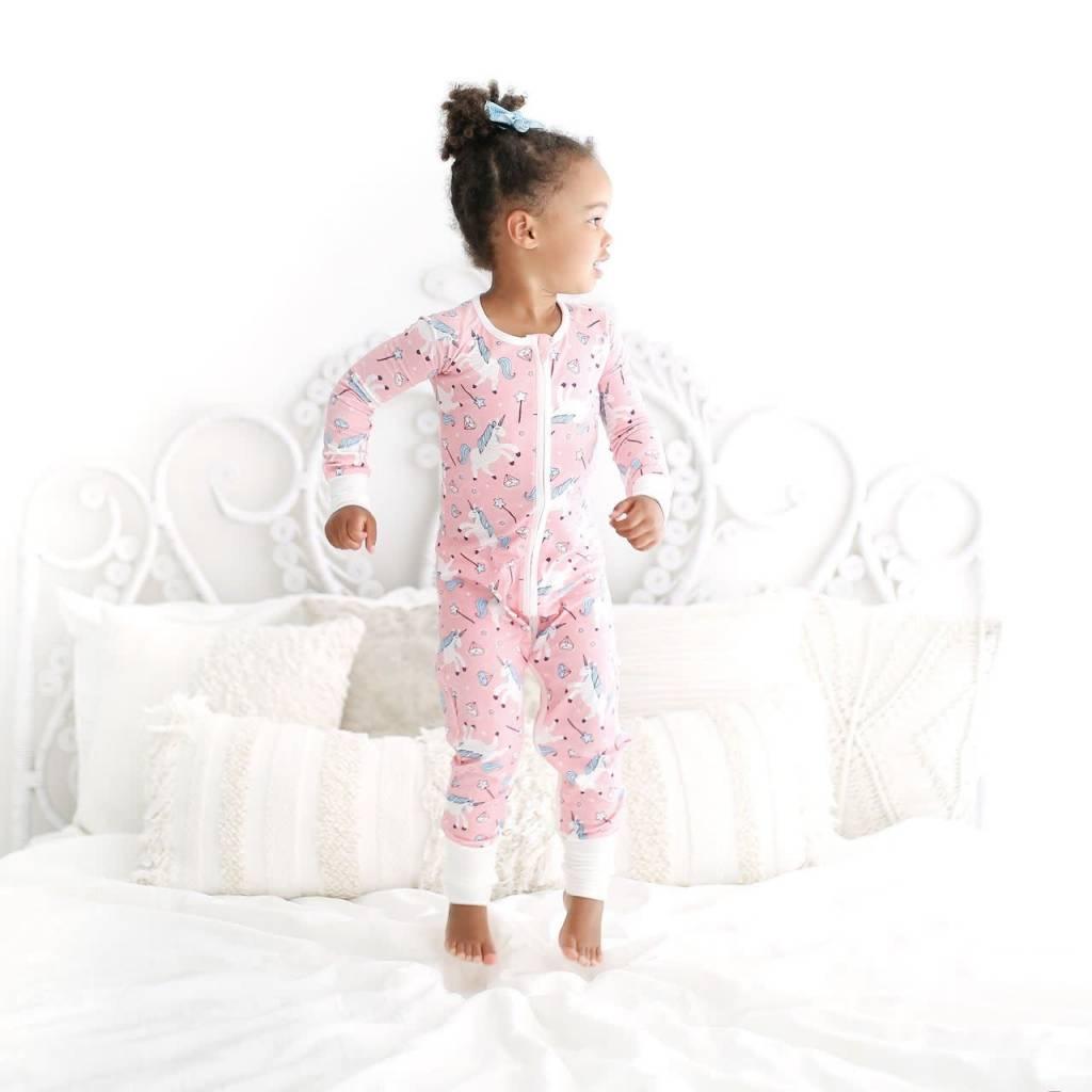 Little Sleepies Unicorn Convertible Romper/Sleeper