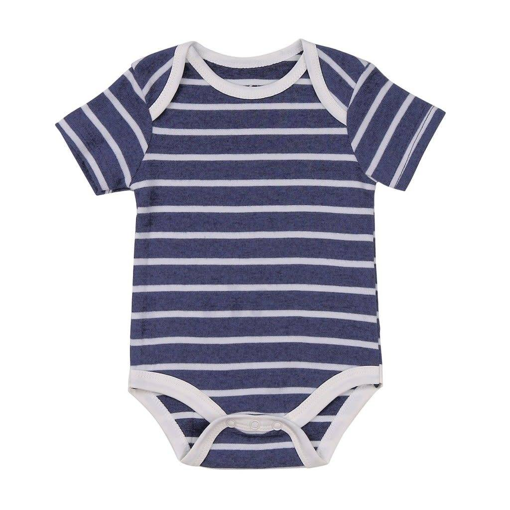 Asher & Olivia 3 Pc Layette Set - French Navy/Arrow