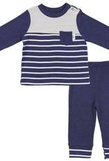 Asher & Olivia 2 Pc Pant Set - French Navy