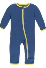 Kickee Pants Applique Coverall w/zipper 3-6 M Twilight Pretzel Pup