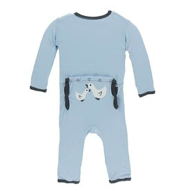 Kickee Pants Applique Coverall -Snap Newborn