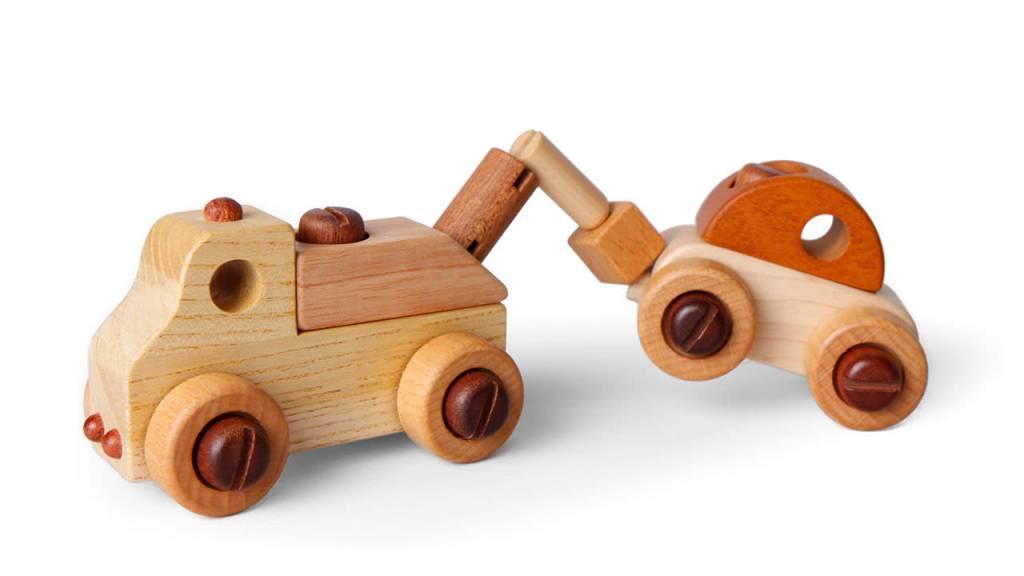 Beyond 123 Wooden Cars w/ Tool Set