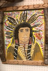 William Fridley William Fridley Indian with head-dressPainting
