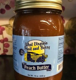 West Virginia Fruit and Berry West Virginia Fruit & Berry 19 oz. Peach Butter Jar
