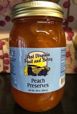 West Virginia Fruit and Berry West Virginia Fruit & Berry 20 oz. Peach Preserves Jar