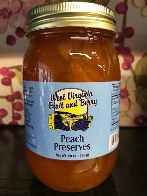 West Virginia Fruit and Berry WVF&B 20 oz. Peach Preserves