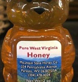 Mountain State Honey Company 2 oz. Basswood Honey Bear