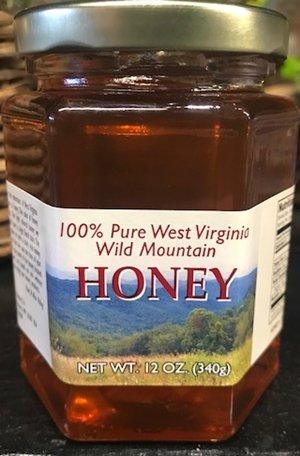 Mountain State Honey Company Mountain State Honey 12 oz. Basswood Hex Jar
