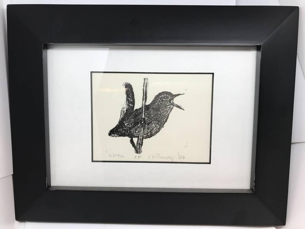 Maggi Rhudy Maggi Wood Engraving Prints Wren