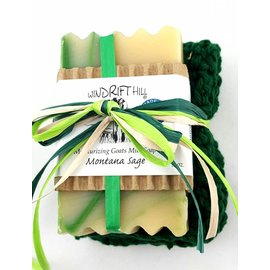 Windrift Hill Montana Sage Soap with Cloth