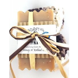 Windrift Hill Honey N Rolled Oats Soap with Cloth