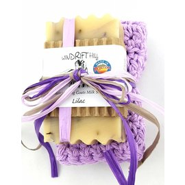 Windrift Hill Lilac Soap with Cloth