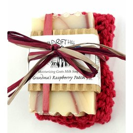 Windrift Hill Grandma's Raspberry Patch Soap with Cloth