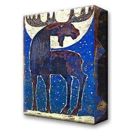 Metal Box Art Moonstruck Moose