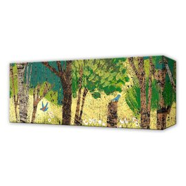 Metal Box Art Summer Trees with Blue Bird