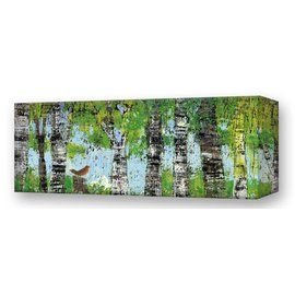 Metal Box Art Spring Trees with Robin